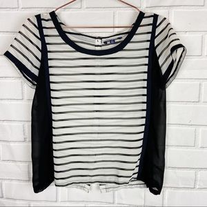American Eagle Outfitters striped sheer crop top S